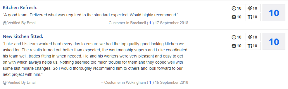 kitchen fitter reviews